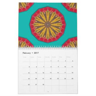 Colors of Rust mandala-style 02 Wall Calendar