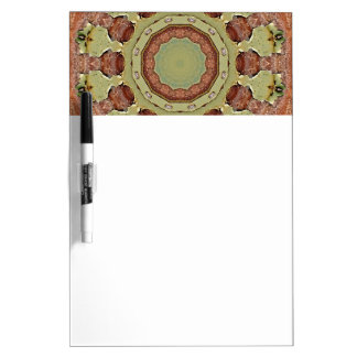 Colors of Rust, mandala-style rust Dry Erase Boards