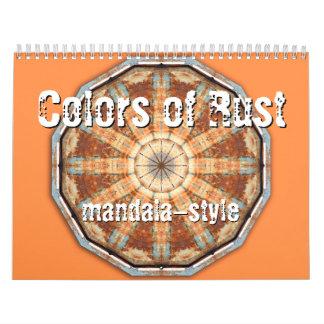 Colors of Rust mandala-style Wall Calendar
