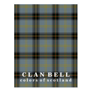 Colors of Scotland Clan Bell Tartan Postcard