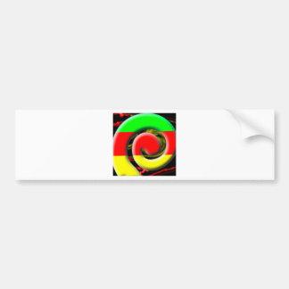 Colors of South Africa Swirl Pattern Bumper Sticker