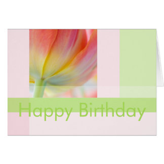 Colors of Spring Tulip • Birthday Card