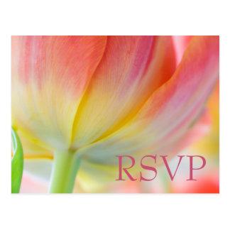 Colors of Spring Tulip RSVP Postcard