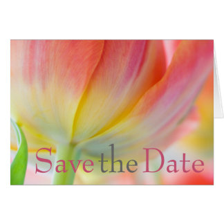 Colors of Spring Tulip Save the Date Card