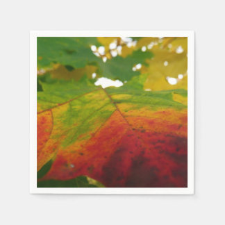 Colors of the Maple Leaf Autumn Nature Photography Disposable Napkin