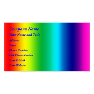 Colors of the Rainbow Pack Of Standard Business Cards