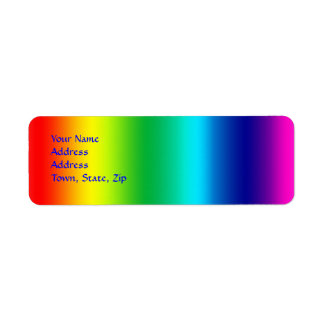 Colors of the Rainbow Return Address Label