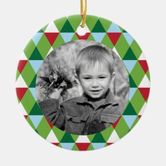 Colors of the Season Photo Christmas Ornament