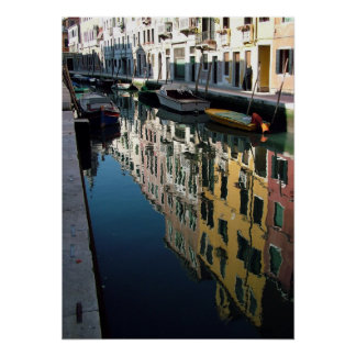 Colors of Venetian Reflections Poster