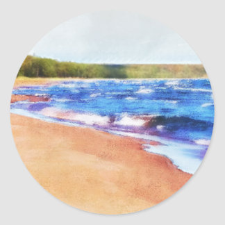 Colors of Water Round Sticker