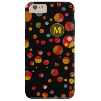 colors on polka dots pattern personalized tough iPhone 6 plus case