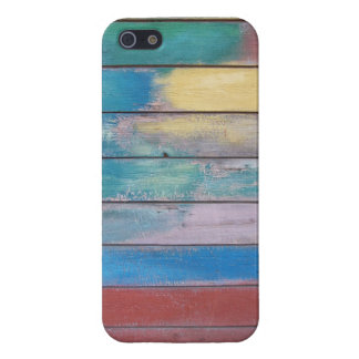 Colors on wood paint job for iPhone 5/5S iPhone 5 Case