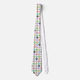 colors pawprints tie pattern