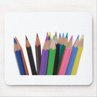 colors pencils mouse pads