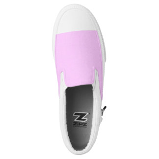 Colors pink and white printed shoes