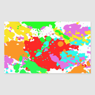 Colors Rectangular Sticker