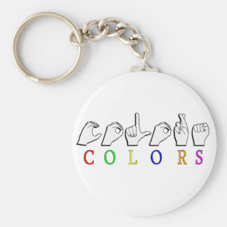 COLORS SIGN ASL FINGERSPELLED KEY CHAIN