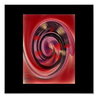 Colors Spinning Abstract Art Poster