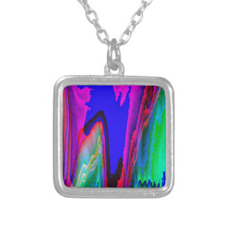 Colors without limits square pendant necklace