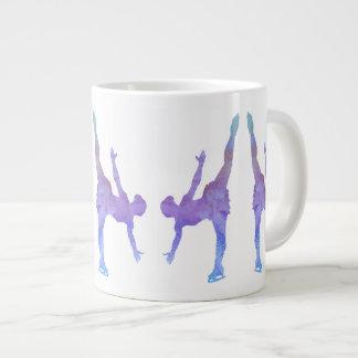 Colorwashed Arabesque Figure Skater Jumbo Mug