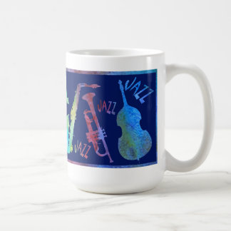 Colorwashed Double Jazz Trio Basic White Mug
