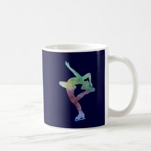 Colorwashed Figure Skater Mugs