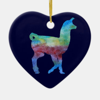 Colorwashed Llama Christmas Ornament