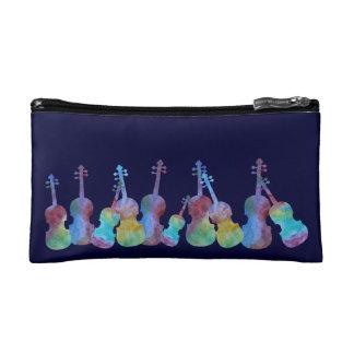 Colorwashed Violins Cosmetic Bag