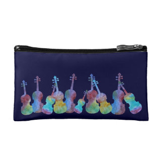 Colorwashed Violins Makeup Bag