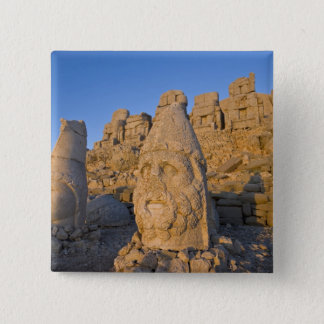 Colossal head statues of Gods guarding the 15 Cm Square Badge
