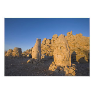 Colossal head statues of Gods guarding the 2 Photo