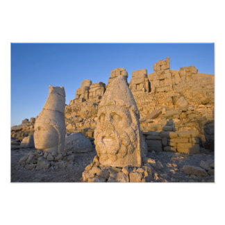 Colossal head statues of Gods guarding the Photo Print