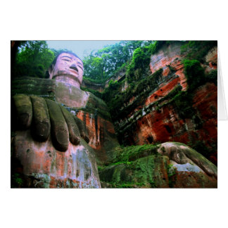 Colossal Le Shan Buddha Greeting Card