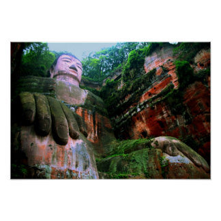 Colossal Le Shan Buddha Poster