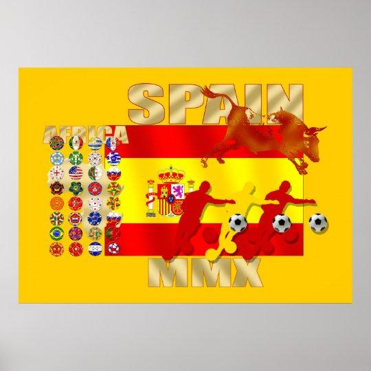 Colossal Spanish soccer Futbol Toro flag Poster
