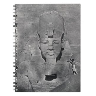 Colossal statue of Ramesses II at Abu Simbel, 1850 Notebook