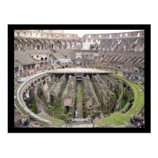 colosseo circle postcard