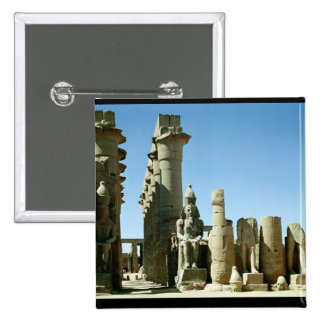 Colosses Ramesses II  and  Pylon of Amenophis 15 Cm Square Badge