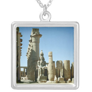 Colosses Ramesses II  and  Pylon of Amenophis Silver Plated Necklace