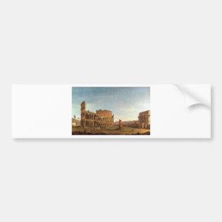 Colosseum and Arch of Constantine (Rome) Bumper Sticker