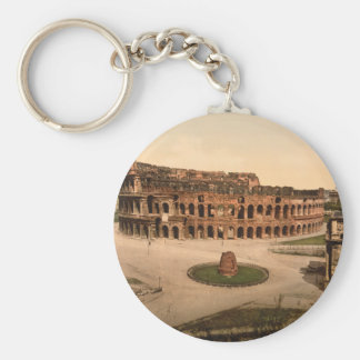 Colosseum and Meta Sudans, Rome, Italy Key Ring