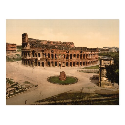 Colosseum and Meta Sudans, Rome, Italy Post Cards