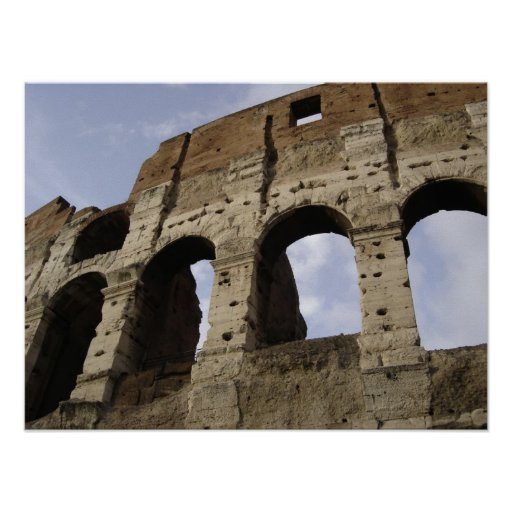 Colosseum arches poster