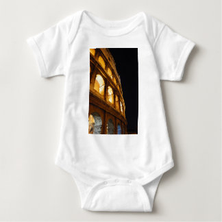 Colosseum at night baby bodysuit
