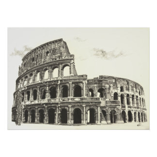 Colosseum - Cross Hatching Fine Art Print