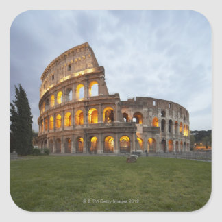Colosseum in Rome, Italy Square Sticker