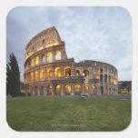 Colosseum in Rome, Italy Square Stickers