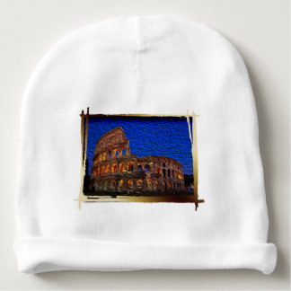 Colosseum in the night baby beanie