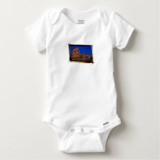 Colosseum in the night baby onesie