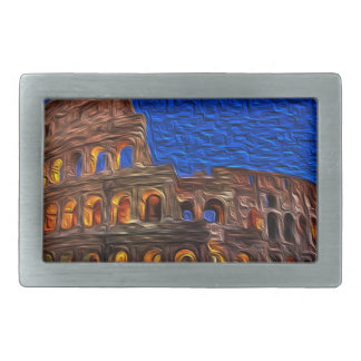 Colosseum in the night belt buckles